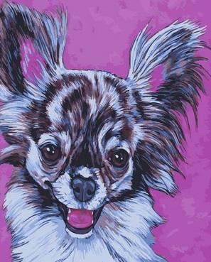 Картина по номерам 40x50 Смешной щенок с большими ушами
